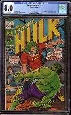 Incredible Hulk # 141 CGC 8.0 Off-White (Marvel 1971) 1st appearance Doc Samson