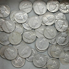 1949 S Jefferson Nickel Roll 40 Circulated US Coins