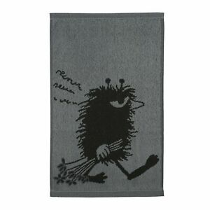 Moomin Stinky Grey Hand Towel 30 x 50 cm