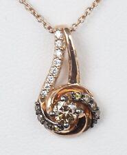 "NEW 14K Rose Gold LeVian Chocolate Diamond Sinuous Swirl 18"" Necklace"