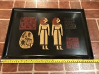 Vintage Couroc 12x18 Ancient Egypt Hieroglyphics Inlay Serving Tray FREE SHIP