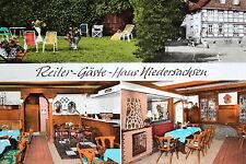 18066 AK Reiter-Gästehaus-Niedersachsen Innenansichten Garten Blumen um 1975