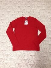Charter Club 2 Ply Red 100% Cashmere Sweater New With Tag