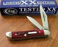 CASE XX New Limited Series XXX Brick Red Jigged Bone 2 Blade Peanut Knife/Knives
