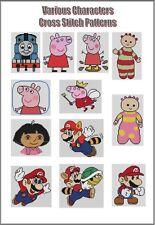 Personajes Diversos Cruz puntadas-Thomas / Mario / Peppa Pig