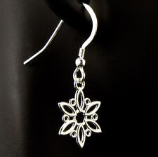 Snowflake Sterling Silver Earrings Fashion Dangle Christmas Holiday iDu Jewelry