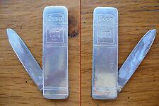 ancien canif couteau publicitaire pompe à essence Esso