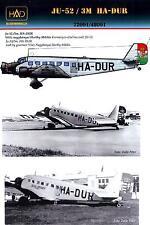 Hungarian Aero Decals 1/72 JUNKERS Ju-52/3m HA-DUR Miklos Horthy Plane