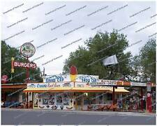 Drive In Restaraunt-Burgers-Shakes-Route 66-8x10 photo