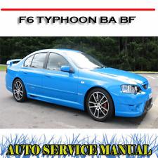 FORD PERFORMANCE VEHICLE F6 TYPHOON BA BF WORKSHOP SERVICE REPAIR MANUAL ~ DVD
