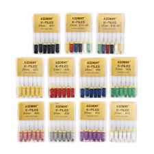 25mm/21mm Dental Endodontic Hand Use K-Files Stainless Steel AZDENT