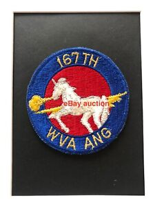 Original oldie USAF 167th Tactical Airlift Squadron (ANG) embroidered patch