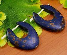 Tibetan Tribal Handmade Carving African Design Boho Bone Stick Earrings EAR460