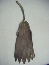 WHITING & DAVIS Antique 1920s Silver Fringes Mesh Small Bag