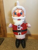 """Vintage INFLATABLE TOY SANTA CLAUS CHRISTMAS  Blow-Up 25"""" New In Package 1970's"""