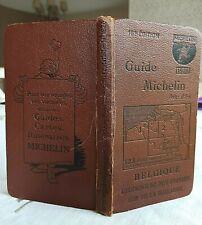 Guide MICHELIN marron Belgique  1926 - 10ème Edition
