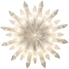 "Stunning Lighted Classic 12"" Glittered Crystal Starburst Christmas Tree Topper"
