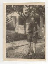 PHOTO - Photographe photographié - Portrait Autoportrait Vintage Snapshot 1950