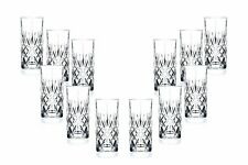 Melodia Hiball Glasses 12.25 Oz, Crystal Cut, Party Glassware Set of (12)