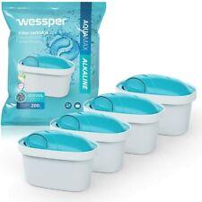 Wessper 4er Pack Alkalischer Wasserfilter Komp. m. BRITA Maxtra BWT WES003-ALKAL