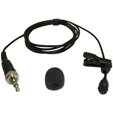 LAPEL LAVALIER CLIP ON MICROPHONE FOR SENNHEISER TRANSMITTER 3.5mm JACK PLUG