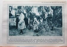 1915 WWI WW1 PRINT SERBIAN WOMEN BEING LED AWAY AS PRISONERS AUSTRIAN SOLDIERS
