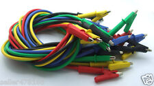 100PC 4MM Banana plug color silicone Voltage Test probe Clamp Cable Alligator
