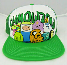 Official ADVENTURE TIME Finn Baseball Trucker Cap Snapback Hat Green Cartoon