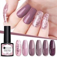 UR SUGAR Rose Gold UV Gel Nail Polish Holographicssss Glitter Purple Gel Varnish