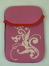 "FUNDA DE NEOPRENO CON DIBUJO DE 7"" PULGADAS PARA TABLET EBOOK COLOR ROSA"