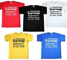 Basic TShirt T-Shirt LKW MIT Werbung - Umzug Umzüge Transporte Autoverleih Truck
