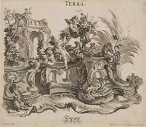 J.S.Klauber(*1740), Terra, Erde, Allegorie, 18.Jh., Kupferstich