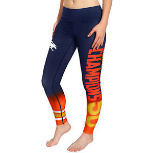 Denver Broncos Women's Super Bowl 50 Champions Gradient Print Leggings All Sizes