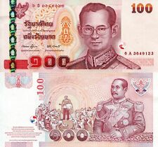 Thailand 100 Baht Banknote World Paper Money Unc Currency p114c 2005 Bill Note