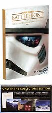 NEW Star Wars Battlefront Collectors Edition Guide + 4 Lithographs PS4 XBOX ONE