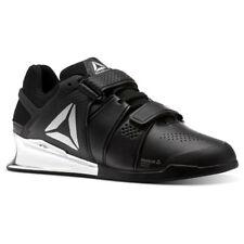 Reebok Legacy Lifter Men Weightlifting Training Gym Shoes Black Silver  CN1002 6d33fdaca