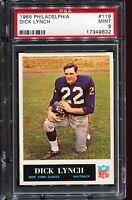 1965 Philadelphia Football #119 DICK LYNCH New York Giants PSA 9 MINT