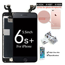 for iPhone 6s Plus Complete Black LCD Touch Screen Digitizer Home Button Camera