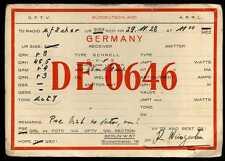 CARD  CARTE  QSL  radio amateur   ALLEMAGNE      1928   ( 371 )