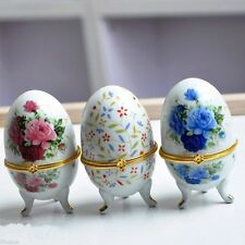 Wholesale10pcs Chinese Handmade Vintage Egg-Shape Porcelain Jewelry Box Gift Box