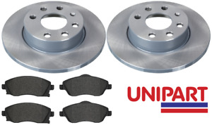 For Vauxhall - Corsa C 1.0 1.2 2000-2006 Front Brake Discs and Pads Unipart