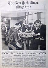 SOCIAL SECURITY - PINE CAMP NY 8-1935 August 18 LAREDO TX COLUMBUS CIRCLE LAVEL