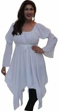 white asym blouse top empire waist plus 2x 3x 4x womens zj449