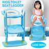 Super Safe Non Slip Kids Baby Toddler Toilet Seat Ladder Step Potty Training