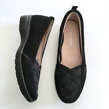 Taryn Rose Alick Walking Shoe, Black Suede Comfort Low Heel Traveler, Size 6.5 M