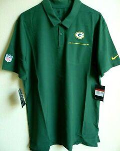 NFL Nike Green Bay Packers Football Elite Performance Polo Shirt L NWT AO3880