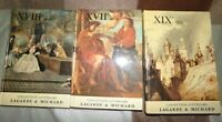 LAGARDE ET MICHARD /3 manuels littéraires /  XVIIE - XVIII E - XIX E S
