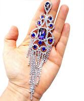 Oversized Rhinestone Earrings, Pageant Stage Jewelry, Chandelier Drop Earrings,