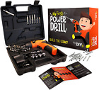 My First Power Drill Set Real Cordless for Boys Girls Kids Toy Gift 60 Pcs New