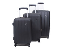 Set of 3 piece travel luggage wheel trolleys suitcase bag hard shell Spinner